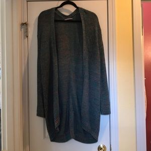 Long, oversized comfy cardigan